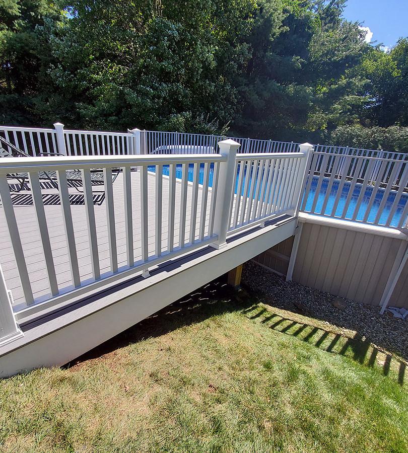 composite pool deck railing