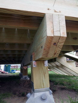 deck support post and beam