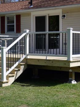 finished deck and slider installation