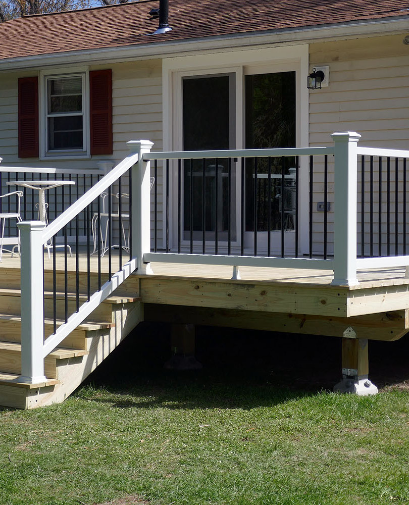 finished deck and slider installation