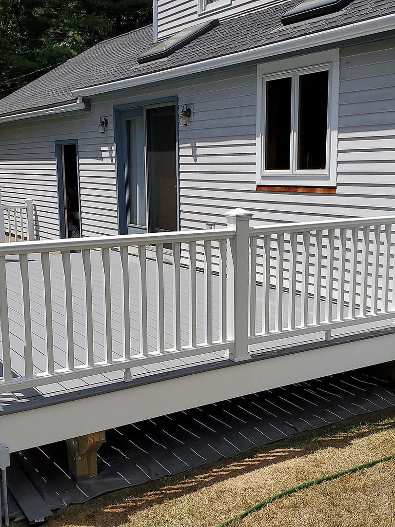 two-tier composite deck railing