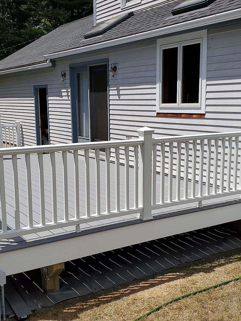 two-tier composite deck railing