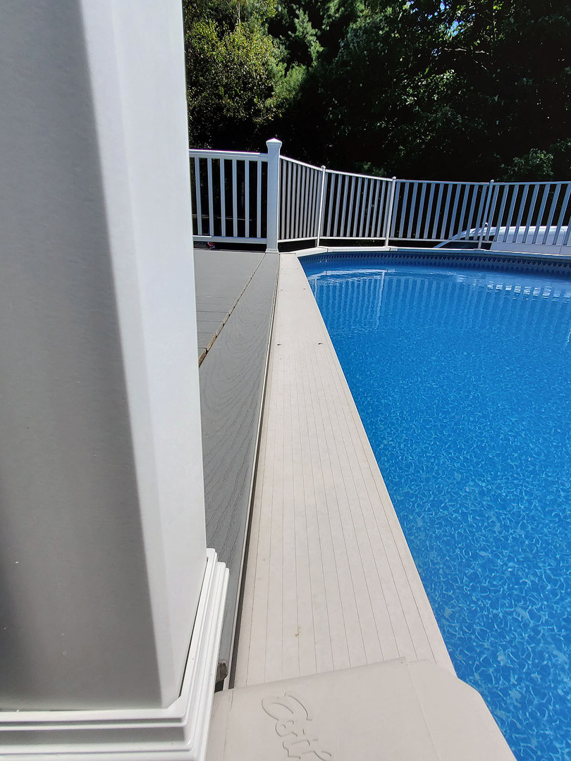 edge of composite pool deck
