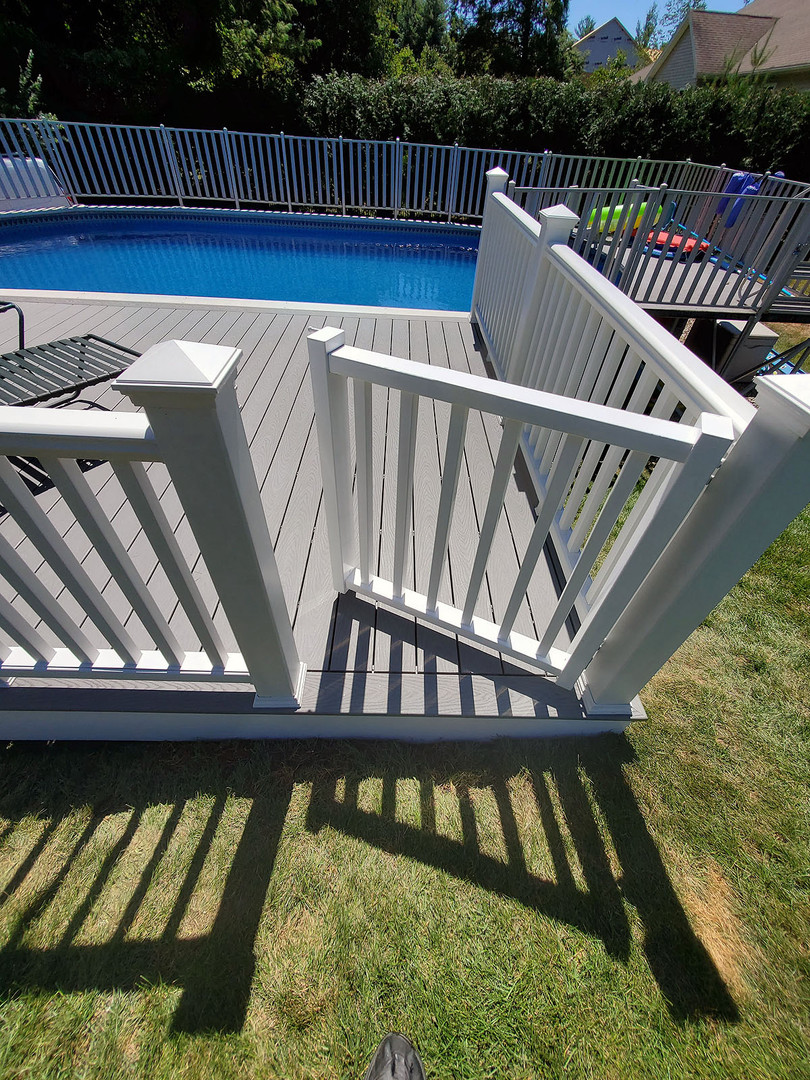 composite pool deck entryway