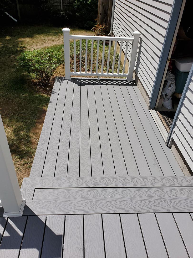 two-tier composite deck