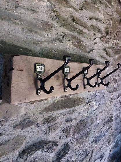 rustic reclaimed wood vintage coat rack