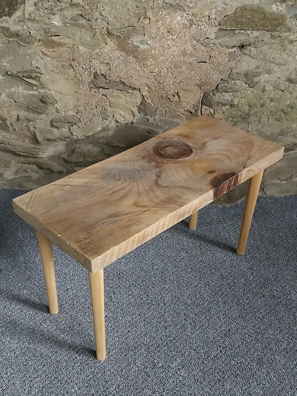 rustic wood small occassional table retro