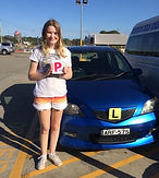 Bree with her P Plates