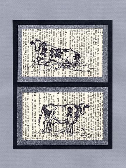 original sketches illustrations cow
