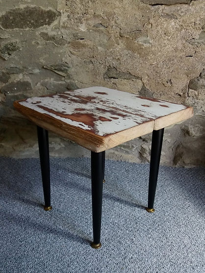 small occasional table retro rustic reclaimed wood