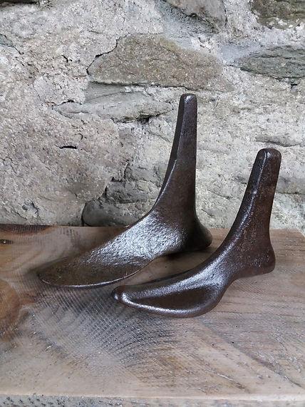 vintage shoe last door stop