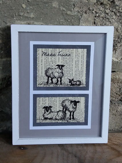 original sketches illustrations sheep cow pig chicken personalised