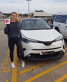 Holly displaying her red P plates