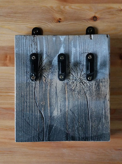 rustic reclaimed wood vintage key hook