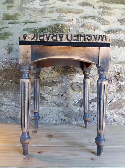 vintage refurbished stool