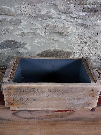 vintage rustic storage crate