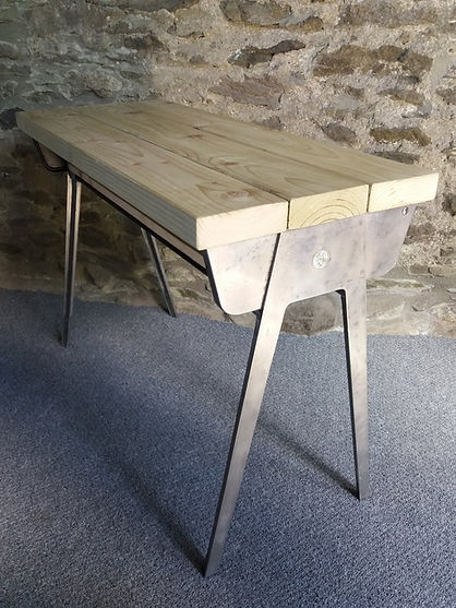 retro school desk reclaimed wood top