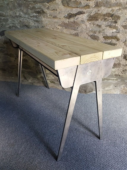 retro school desk reclaimed wood top