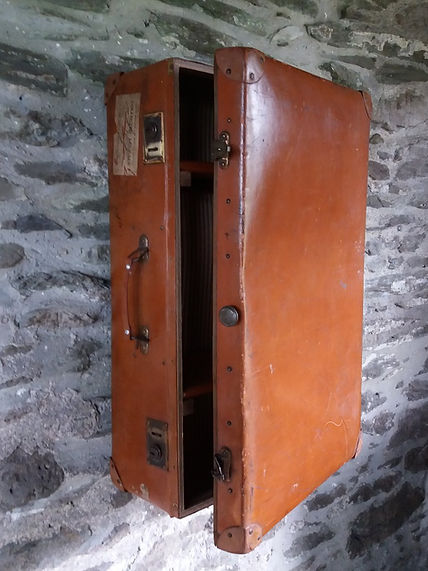 Vinage upcycled suitcase wall cabinet