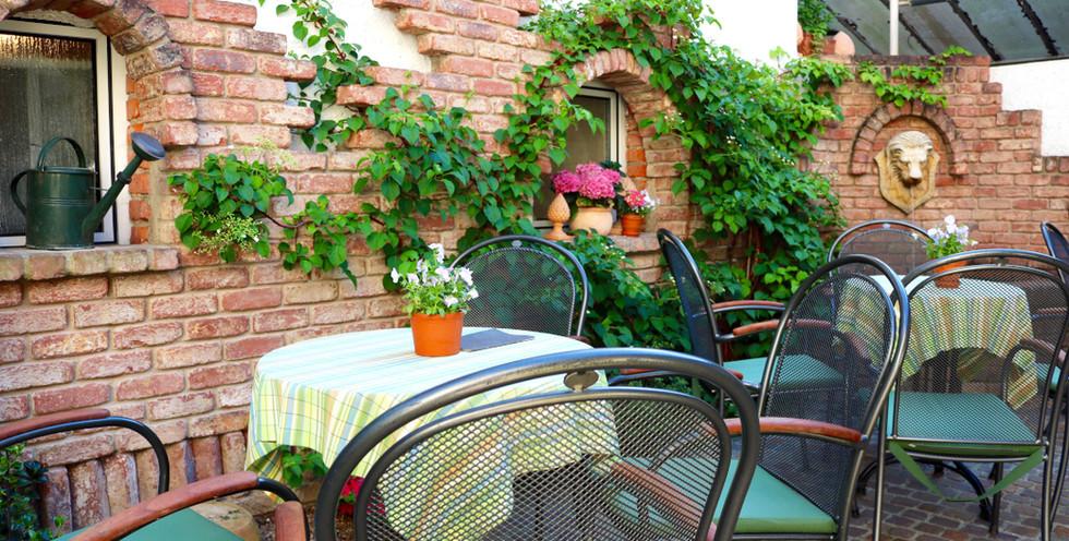 Ein Blick auf unser Gartencafé