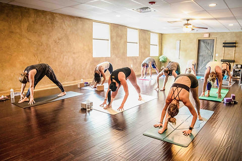 A class at Niyama Yoga Shala & Wellness Center, a yoga studio in New Jersey