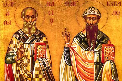 икона св афанасия и Кирилла Александрийс
