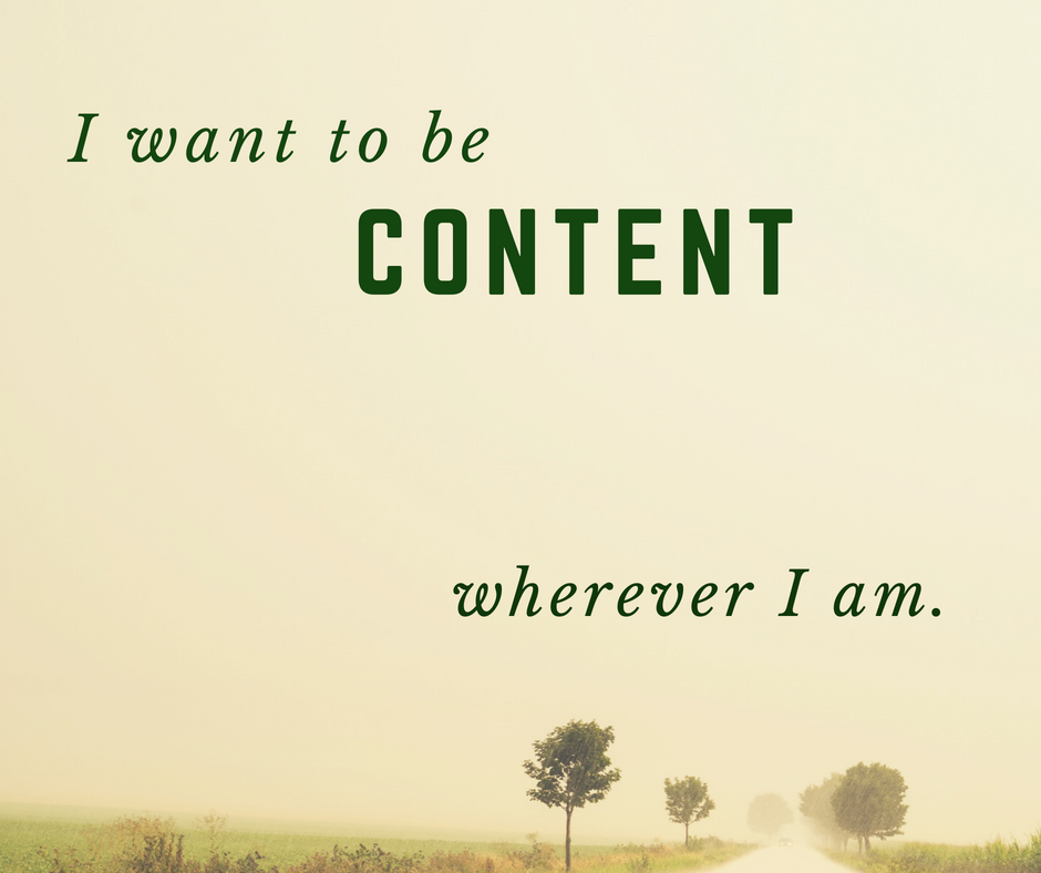I want to be content by Truly