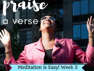 Meditation is Easy ~ Week 3