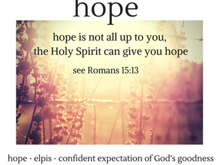 Hope from the Holy Spirit