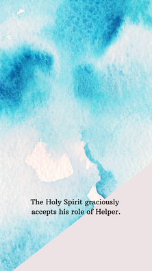 the Holy Spirit's role blue