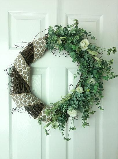 Designer Summer Ranunculus Wreath