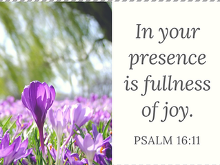 God's Presence is Fullness of Joy
