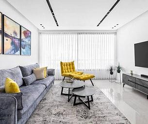 דירת 4 חדרים בתל אביב. עיצוב: אור בן ישי