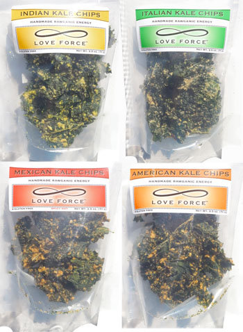 VARIETY PACK 4 KALE CHIPS  Great Taste!!