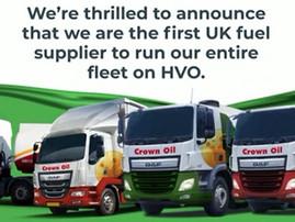Crown Oil runs entire fleet on HVO, highlights UK govt.'s lack of biofuel support