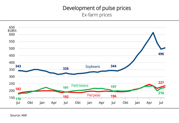Pulse prices up nearly 25% on previous year