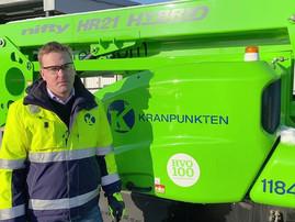 Sweden's Kranpunkten fuels hybrid lift equipment with renewable diesel