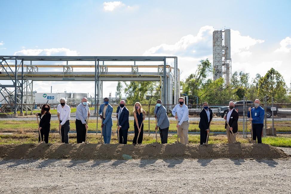 renewable diesel ground breaking REG Geismar