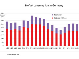 Less biodiesel consumed in Germany in 1st half of 2021