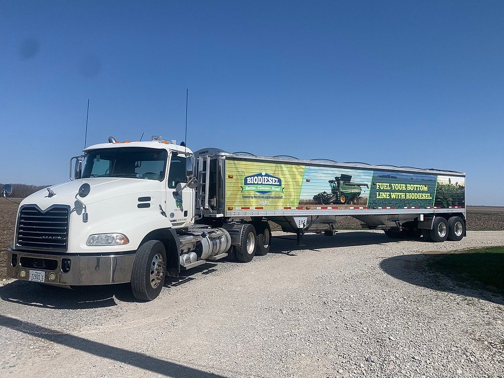 Biodiesel truck, biobased diesel truck, soybean biodiesel, B20 biodiesel