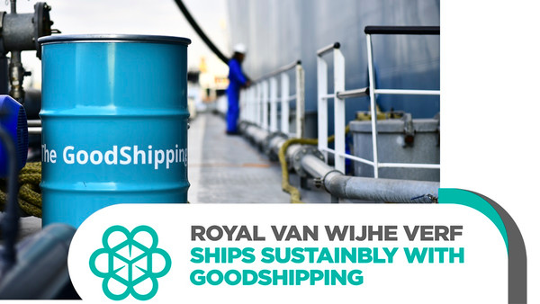 Royal Van Wijhe Verf joins GoodShipping to decarbonize its ocean freight