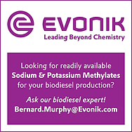 Evonik biodiesel catalysts, biobased diesel