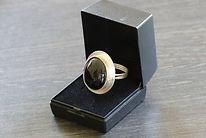 Ring, zilver met vuuropaal