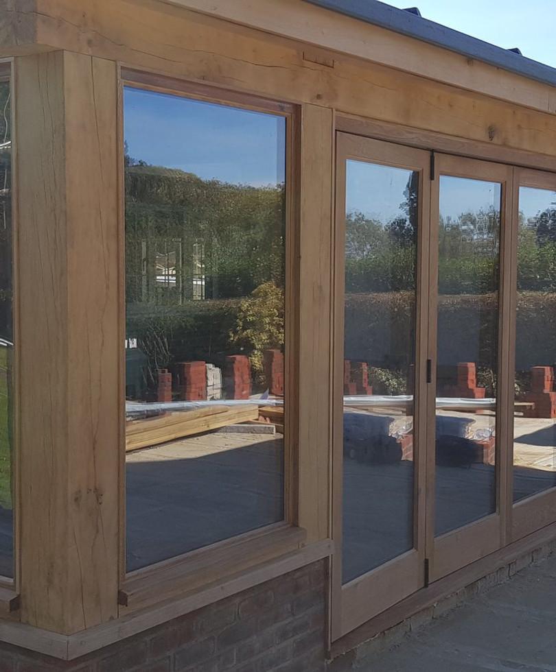 Hardwood bi-fold doors