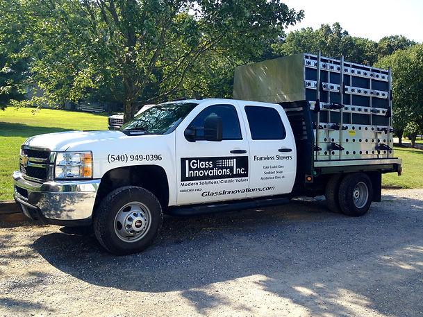 Glass Innovations truck in Virginia