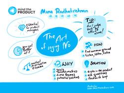 MTP Talk Mina Radhakrishnan live event illustration by Shaz Mura