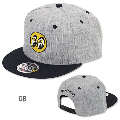 MOONEYES Eyeball Flat Visor CAPS HAT GREY BLACK