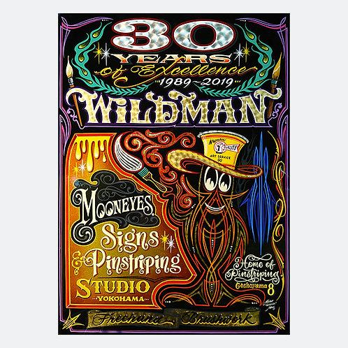 "TSHIRT MOONEYES SPECIAL EDITION Hiro ""Wildman"" Ishii 30th Anniversary"