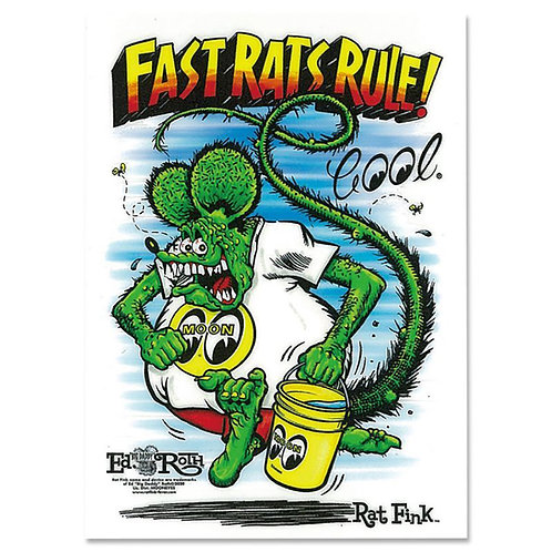 RAT FINK RATFINK MOONEYES Fast Rat Rule Sticker Mr Wildman Design