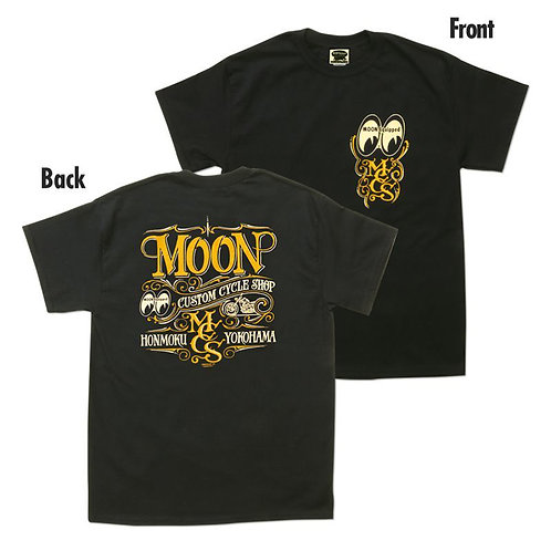 TSHIRT MOONEYES MOON Custom Cycle Shop MR WILDMAN DESIGN